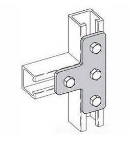 B-LINE BFV2013 2-INCH NON METALLIC PIPE CLAMP WITH NUTS